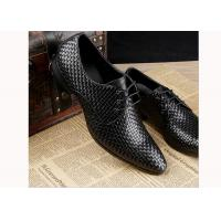 Buy cheap Mens Burgundy Dress Shoes Vintage Italian Goodyear Welted Full Grain Leather Shoes from wholesalers