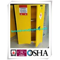 Wholesale Yellow Flammable Safety Cainets , Industry Flame Proof Storage Cabinets from china suppliers