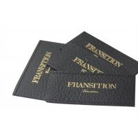 Wholesale Decorative Recycled Jeans Pu Leather Custom Clothing Patches Embossed / Debossed Logo from china suppliers