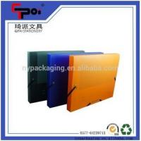 Wholesale Elastic Solid Color PP File Customized Folder Box Document Box Made In China from china suppliers