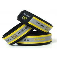 Wholesale Reflective Sport ID Bracelet / Vital ID Wristband With Insert ID Paper from china suppliers