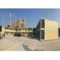 China Official Area Flat Pack Office Buildings Two Stories With Galvanized Steel Frame Structure on sale