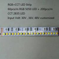 Wholesale 30V 36V 48V RGB+CCT LED Strip  5050 RGB + 2835 Tunable White Dual White CW+WW LED Strip from china suppliers