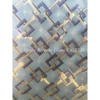 Buy cheap China decorative acid etched ice flower glass from Shahe city from Wholesalers