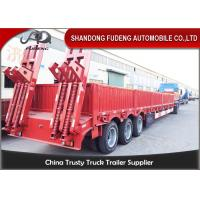 Wholesale Drop Deck 3 Axles Low Bed Semi Trailer With Side Wall Mechanical Ladder from china suppliers
