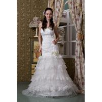 Wholesale Beautiful Strapless Sweetheart Floor Length Mermaid Lace Wedding Bridal Gown With Beads from china suppliers