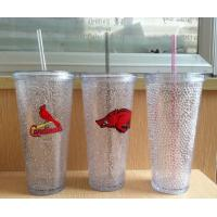 Wholesale HT-20 custom plastic straw drinks cup beer cup colors gel water PS material Cold beer cup from china suppliers