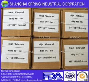 China Premium Inkjet Printing Transparent PET Polyester Film 100Mic/Inkjet Film on sale