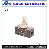 China Pneumatic Air Flow Control Restrictor Check Valve 0 - 60°C Operting Temp 1/4 Bspp Port Size on sale