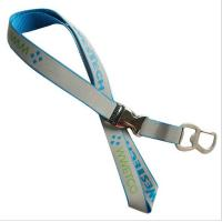 Wholesale Multi-functional reflective neck lanyard with metal bottle opener hook and metal buckle, from china suppliers