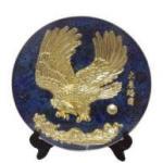 Enamel Plate With hawk