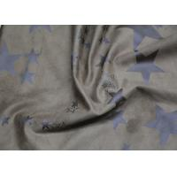 Wholesale Ladies Garment Fake Leather Fabric , Printed Brown Suede Leather Fabric from china suppliers