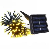 Buy cheap 12M 100LED bulbs solar panel power LED string lights fairy light for christmas from wholesalers