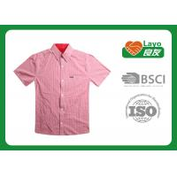 Buy cheap Summer Red Plaid Collar Quick Dry Shirts For Women Comfortable from Wholesalers