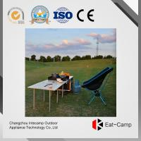 Wholesale EATCAMP Outdoor Kitchen Station Of Tilia Solid Wood Table  Windproof Card Furnaces  7.4 Kg - 40 L - 3 KW * 2 For BBQ from china suppliers