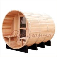 Buy cheap Outdoor 7foot by 7 foot for 3-4 Person Red Cedar Barrel Sauna Room With Harvia Elecrical sauna heater from Wholesalers