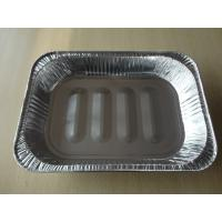 China 0.1mm Silver Disposable turkey roasting pan /  aluminum foil food container on sale