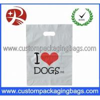 China Biodegradable Die Cut Handle Plastic Bags With Bottom Gussets For T-Shirt on sale