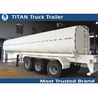 Mechanical , air , bogie suspension 43000 liters liquid tank trailers carbon steel