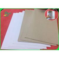 Quality Recycled Wood Pulp White Coated Duplex Board With Grey Back For Notebook for sale