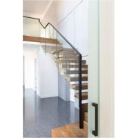 Wholesale Clear glass railing floating stair from china suppliers