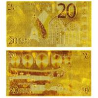 China Euro Banknotes Gold 20 Euro Money Pater on sale