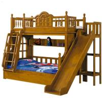 Wholesale Solid rubber wooden full over full loft twin bunk beds for kids from china suppliers