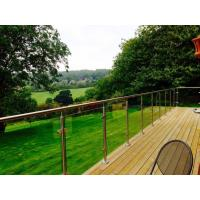 Wholesale Outdoor balcony stainless steel glass railing / glass balustrade design from china suppliers