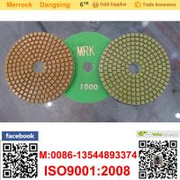 China 100mm Marble Diamond Soft Polishing Pads Resin Buffing Pad For Polishing Machine on sale