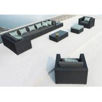 Wholesale Large 8 Seater Sofa Set Rattan Corner Sofa Garden Furniture with Pillow from china suppliers