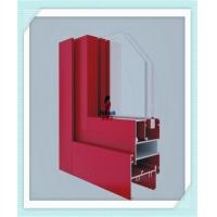 Quality Anodized Flat Open Window Aluminum Profile For Glass Wall Red Color ISO Certification for sale