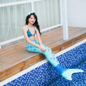 China S M L Adult Mermaid Tail Swimsuit With Monofin , Mermaid Bikini Bathing Suit on sale
