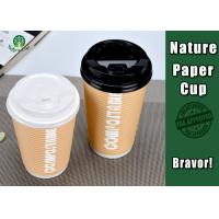 China PLA Coated 12 Ounce Paper Cups , Disposable Double Wall Paper Coffee Cups on sale