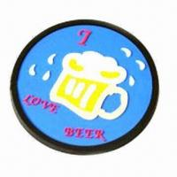 Wholesale Soft PVC Coaster with 9cm Diameter from china suppliers