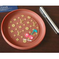 Wholesale Red round plastic coin tray Eco Friendly PVC loose coin tray With logo from china suppliers