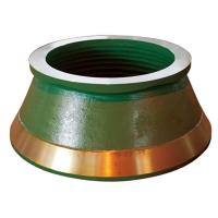 Buy cheap Terex Finlay Parts high manganese steel casting cone crusher bowl liner mantle from wholesalers