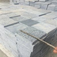 Wholesale China Granite Dark Grey G654 Granite Cube Stone Paving Stone Flamed Surface 10x10x2cm from china suppliers