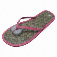 Wholesale New Stylish Women's Sandals, Straw Insole and EVA Outsole, OEM Orders are Welcome from china suppliers