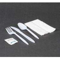 Wholesale White Plastic Cutlery Pack with Knife, Fork, Spoon, Napkin & Salt / Pepper 500 / Case from china suppliers