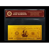 Wholesale $10000 dollar USA bill with PVC frame holder Certificate of Authenticity from china suppliers