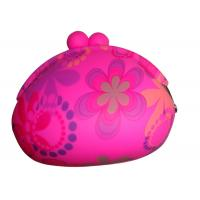 China 2012 Latest Silk Printed Silicone Coin Purse Mens Wallets with Coin Purse on sale
