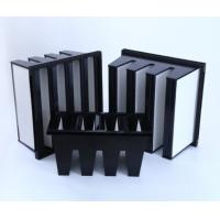China MERV16 V Bank Cell HEPA Media Filter With ABS Plastic Frame 14sqm Area on sale