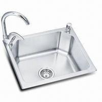 Wholesale 304 Stainless Steel Kitchen Sink with Polished Finish, Available in Various Designs from china suppliers