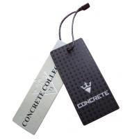 China order custom cardstock hang tags brand hang tag booklet with strings uv coating on sale