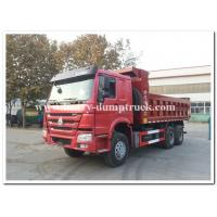 Buy cheap Sinotruk howo new dump truck 25tons tipper truck Euro II 371hp red color from Wholesalers