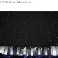 Super bright rgb 6 x 4m led star curtain backdrop curtain cloth for