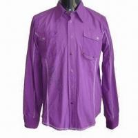 Wholesale Men's Fashionable Casual Shirt, Made of Comfortable Cotton Poplin, Finished Garment Dying (DIP) from china suppliers