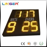 Wholesale Small Electronic Cricket Scoreboard For Inside , Simple Type In Yellow Color from china suppliers