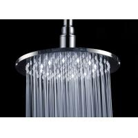 Wholesale Chrome Finish Overhead Inch Rain Shower Head / White LED Shower Head from china suppliers