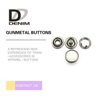 Wholesale 10mm Gunmetal Pearl Snap Buttons Metal Decorative For Jeans Parts from china suppliers